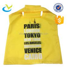 Wholesale durable cheap 100% polyester portable folding shopping bags