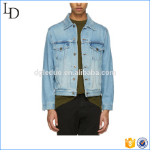 100% cotton regular custom denim jacket men bomber blue jeans jacket