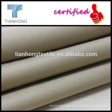 tecido acetinado tingido sólido com slub para vento casaco/blusa tecido uso slub/sarja tecelagem tecido
