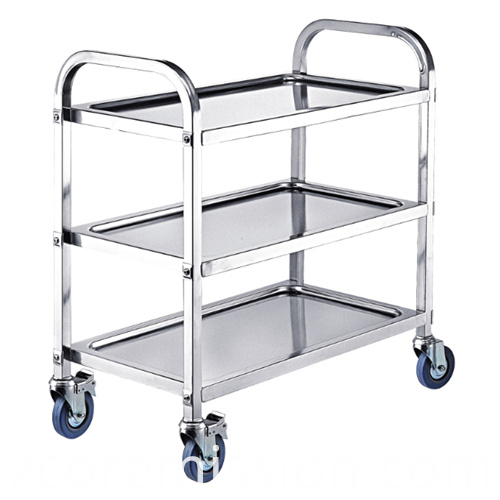 Stainless Steel Commercial Restaurant Mobile Dining Trolley