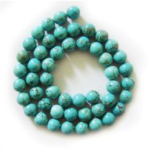 Perles rondes Turquoise 7MM