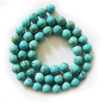 8MM Turquoise Round Beads