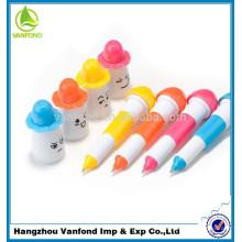2015 года новизны продукты для импорта пластиковый гибкий милой улыбкой лицом шариковая ручка