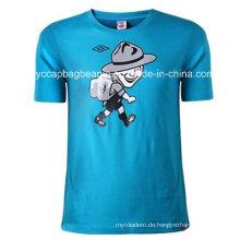 100% Baumwolle Art- und Weisemänner runder Ansatz-T-Shirt, T-Shirt