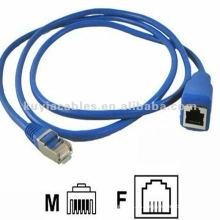 RJ45 Stecker Stecker auf weibliches Ethernet Netzwerk RJ45 Verlängerungskabel CAT5e oder cat6