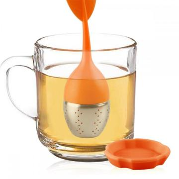 Mesh Silicone Tea Infuser med droppbricka