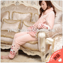 Warm Coral Fleece Pajamas Suit for Winter Home Relax Wear 250gsm