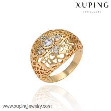 13403 China al por mayor Xuping Fashion Elegant 18K oro Pearl Woman Ring
