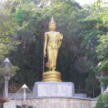 Alta qualidade de alta qualidade antique bronze em pé estátua de buda
