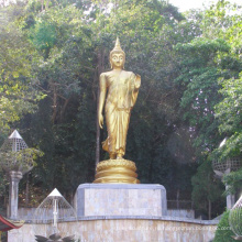 высокое качество высокое качество античная бронзовая статую стоящего Будды