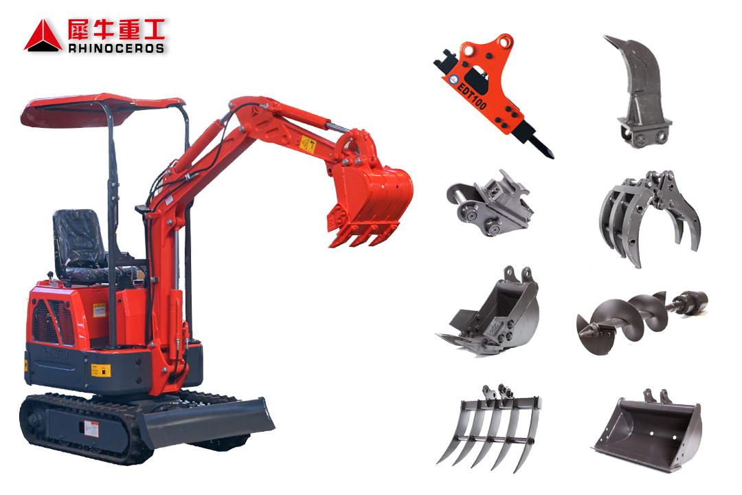 Mini excavator attachments