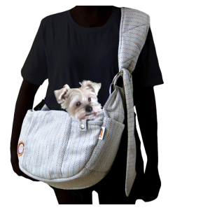 Carrier Pet Sling berwarna abu-abu