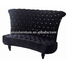 Eventing furniture black high back chair XY0329