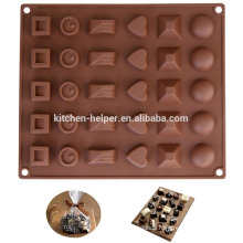 Popular Various shaped Silicone Kitchen Chocolate Mold
