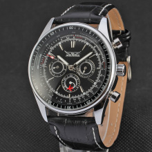 Mens Automatic Movement Fashion Leather Strap Watches