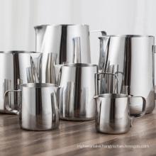 Milk Jugs Stainless Steel Frothing Pitcher Pull Flower Cups Coffee Milk Frother Latte Art Milk Foam Tool Coffeware