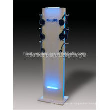 Kundenspezifische Boden Standing Retail Store Acryl Beleuchtung Metall Point of Sale Kopfhörer Display Stand
