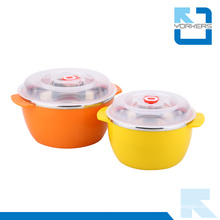 Cheap Stainless Steel and Plastic Salad Bowl with Lid