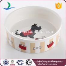Cuenco de consumición de cerámica del nuevo diseño para el perro