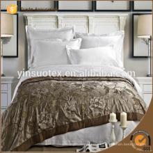 Sábanas blancas llanas del hotel de Stipe del algodón de la alta calidad 100%