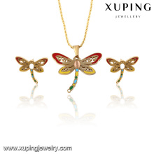 63815-Xuping New Design Fashion Stainless Steel Dragonfly Jewelry Set For Women