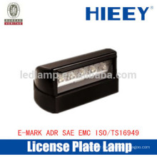 Hot sale Offroad License plate lamp with E-MARK truck license plate lamp number plate light