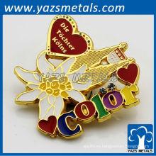 Insignias de metal personalizado con una gran cantidad de colores, de alta calidad