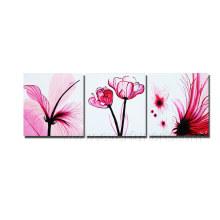 Óleo na lona Pintura moderna da flor na lona (FL3-208)