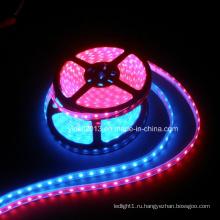 Гибкая водонепроницаемая светодиодная лента для поверхностного монтажа 120LED / M RGB 3528 с высоким световым потоком 12В 24В постоянного тока