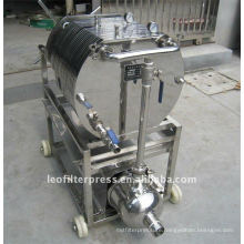 Leo Filter Press Oil Filtering Testing Stainless Steel Plate and Frame Filter Press