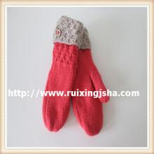 Леди ручной вязки ремикс зимние перчатки