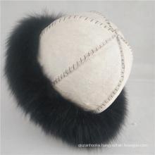 winter warm Viking cap Nordic hat fashion real sheepskin fur hat