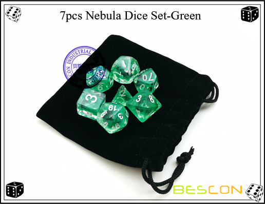 7pcs Nebula Dice Set-Green-2