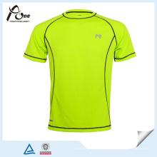 Vente en gros Chine Design personnalisé blanc bleu vert T-shirt