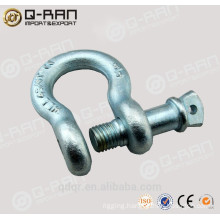 US type adjustable bow shackle with clevis pin