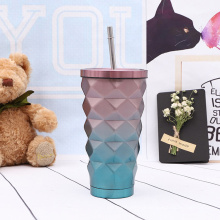 Cheap stainless steel insulated sippy tumbler cup with straw and lid