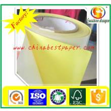 Papel de Liberação de Silicone 62g-Yellow Base Paper