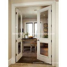 White Double Sided Clear Glass Door with Hinges