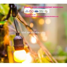 Chaîne imperméable à l'eau de 15M 15 prises de courant allumant la lumière SLT-190 de la catégorie E26 E27 de vacances de la catégorie LED