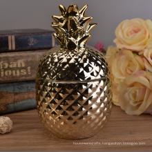 Home Decoration Ceramic Pineapple Cookie Jar