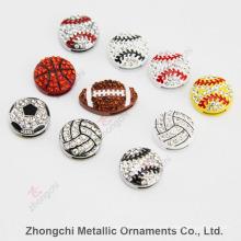 8mm Sportsball Slide encantos para jóias DIY