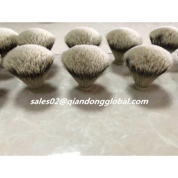 Grano superior Fan Shape Silvertip Badger Hair Knot