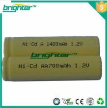 Fabricado na China um3 lr6 aa bateria recarregável nicd aa 700mah 1.2v