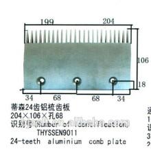 Escada rolante de alumínio de 24 dentes para peças de escada rolante, 24 dentes