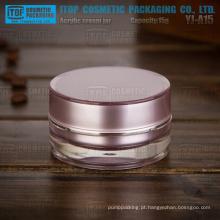 YJ-A15 15g pmma grosso material alta qualidade camadas dobro roxo cilindro acrílico jar