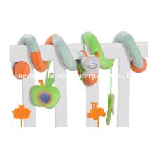 Fábrica de fornecimento de bebê infantil Bed Plush Spiral Toy