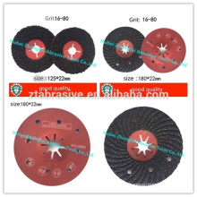 P16-120 silicon carbide grooved sand disc tungsten carbide grinding disc