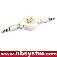 3.5 ficha estéreo para 3.5 cabo retrátil retrátil estéreo