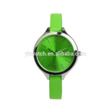 Relojes de pulsera de cuero de las mujeres relojes de cuarzo de lujo reloj de pulsera de las muchachas Relogio Feminino