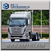 440HP Sichuan Hyundai Xcient 6X4 Traktor Kopf Anhänger LKW